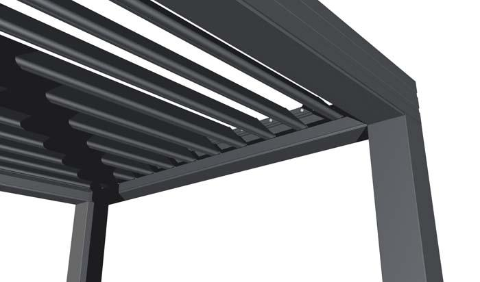 Pergola alu wallis outdoor la pergola aluminium bioclimatique v randas toitures bso for Poteau alu pour veranda