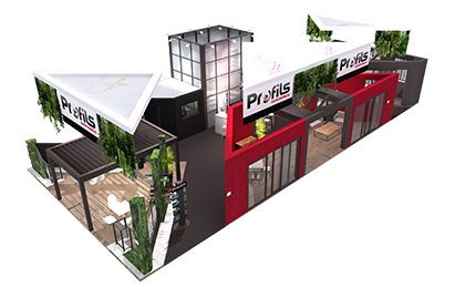 Profils syst mes affiche ses ambitions au salon equip for Menuiserie stand exposition