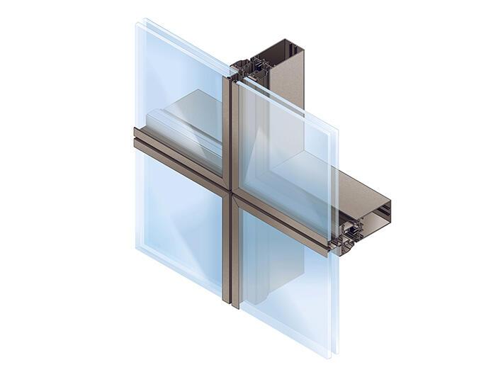 tanagra aluminum curtain wall facades aluminum joineries profils systemes en. Black Bedroom Furniture Sets. Home Design Ideas