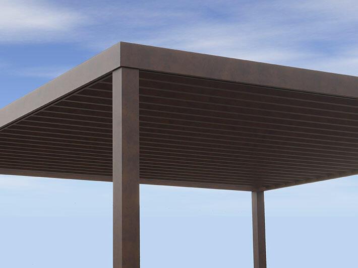 Wallis&Outdoor® fixed-slat pergola sun shelter - Pergolas & AAS