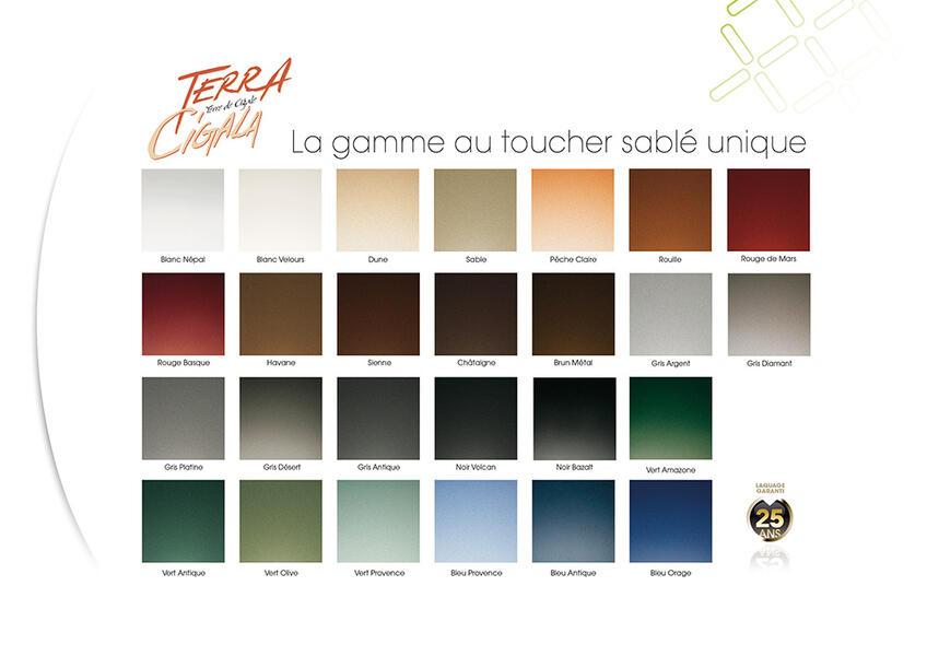 terra cigala couleurs exlusives design couleurs profils systemes. Black Bedroom Furniture Sets. Home Design Ideas