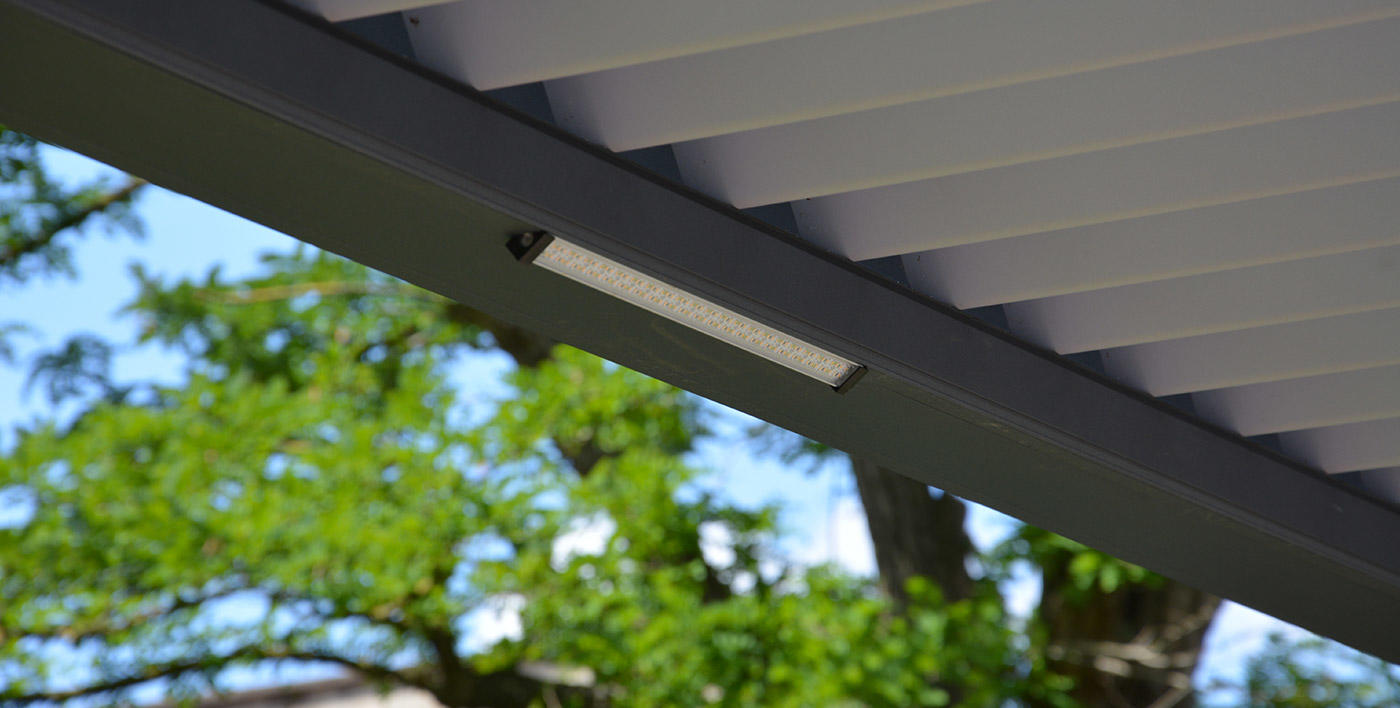 Eclairage rampe à led pergola alu Wallis&Outdoor