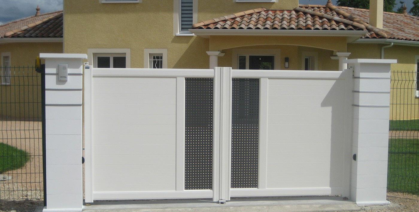 portail aluminium contemporain shar pei portail alu. Black Bedroom Furniture Sets. Home Design Ideas