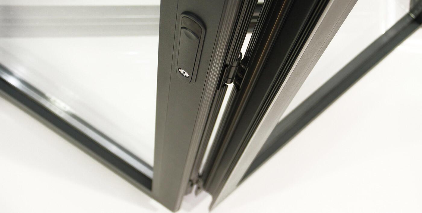 Porte Repliable Aluminium Satin Moon Portes Traditionnelles Porte Alu Menuiserie Alu Profils Systemes