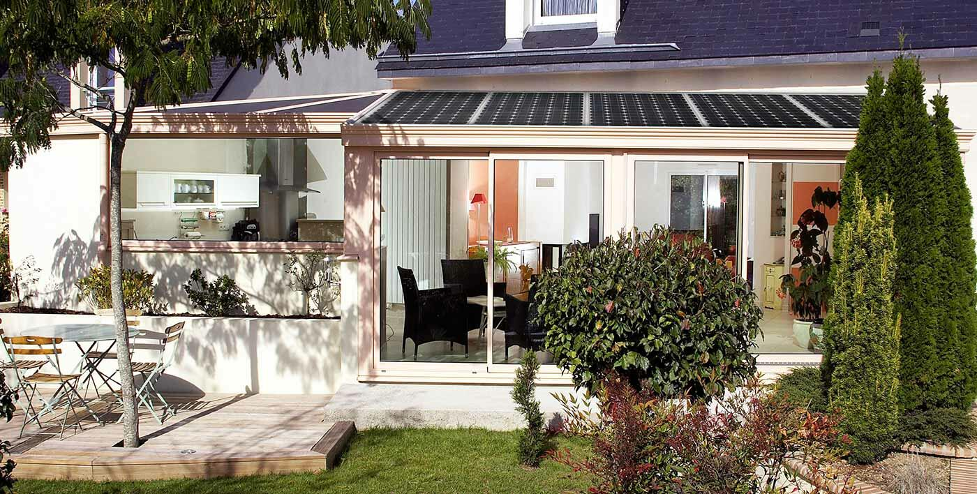 Toiture de véranda photovoltaïque Wallis&Energy - Véranda alu - Menuiserie alu - Profils systemes