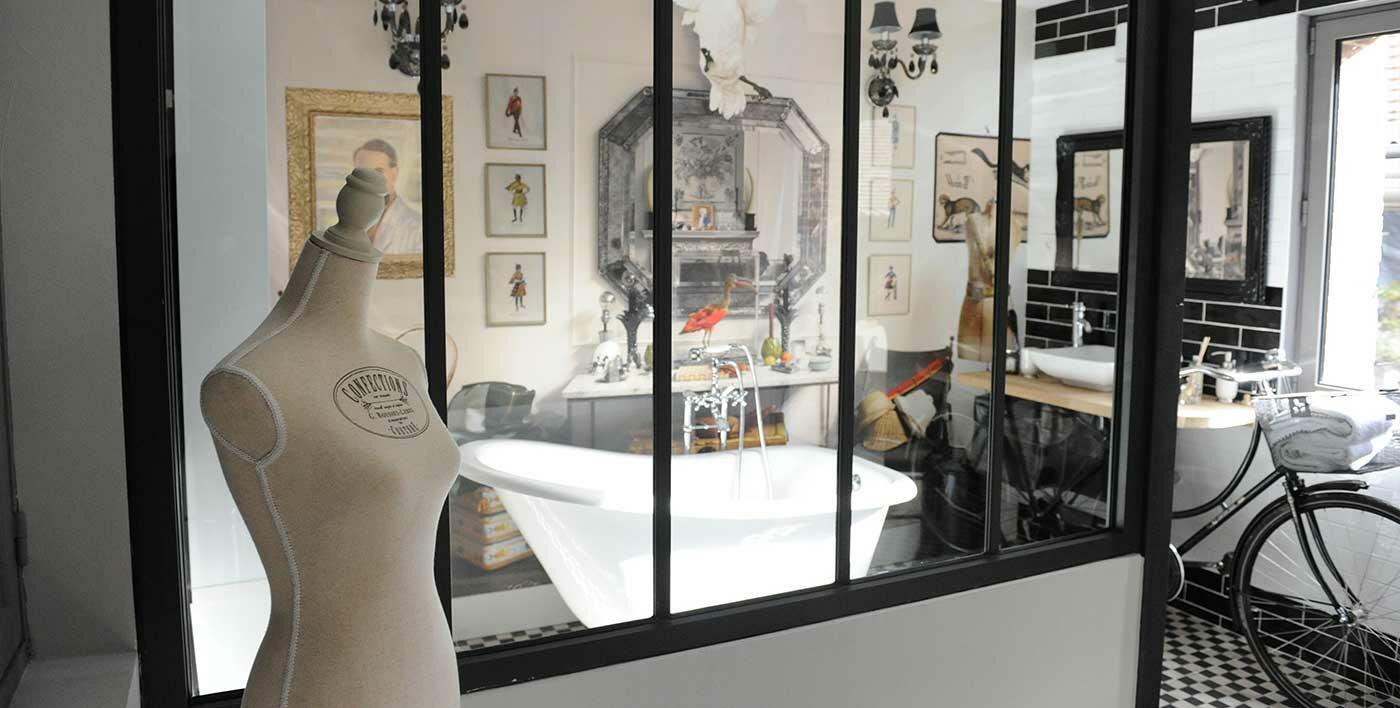 Verrière intérieure aluminium Wallis&Atelier® - Fenêtre alu ...