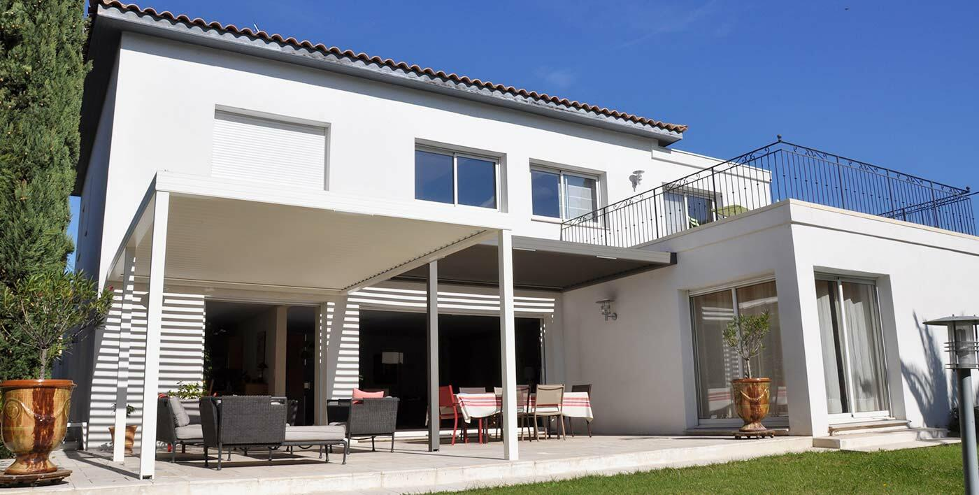 Double pergola alu bioclimatique Wallis&Outdoor