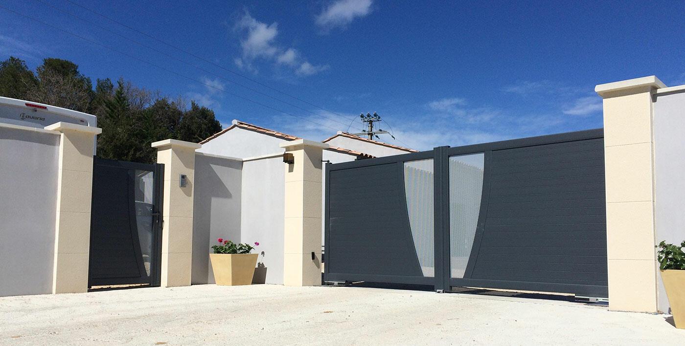 Portail Aluminium Contemporain Shar Pei Portail Alu Menuiserie